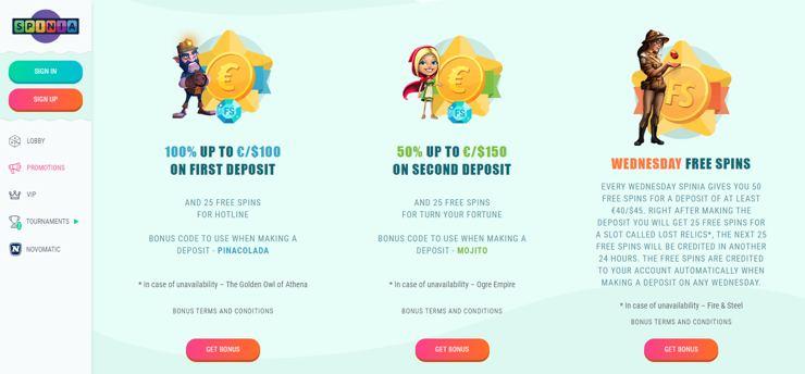 Casinos kommer Spinia, detta spelbolag är ett av de främsta som har opererar utanför den svenska marknaden