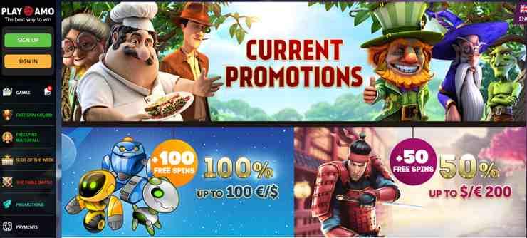 Playamo har en stark tradition av att erbjuda de hetaste bonusarna och kampanjerna, oavsett om man är ny spelare eller redan existerande kund